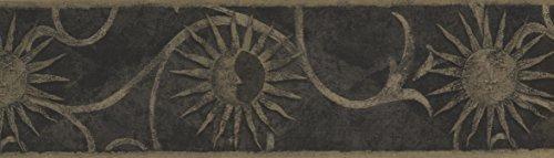 Dark Grey Sun Sign Wallpaper Border 30135 - Za Sun