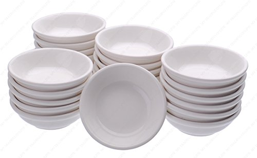Ceramic Side Sauce Dish, 2-7/8 Inch (Dia.) x 1 Inches (H), 1-Ounce, Set of 24 Dishes