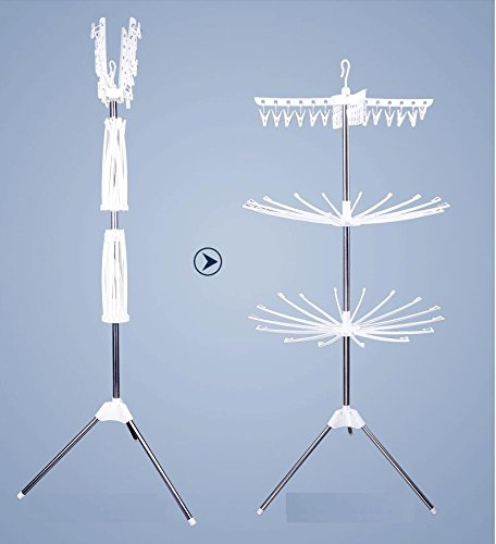 Fodling & adjustable Household Essentials 3-Tier Tripod Air