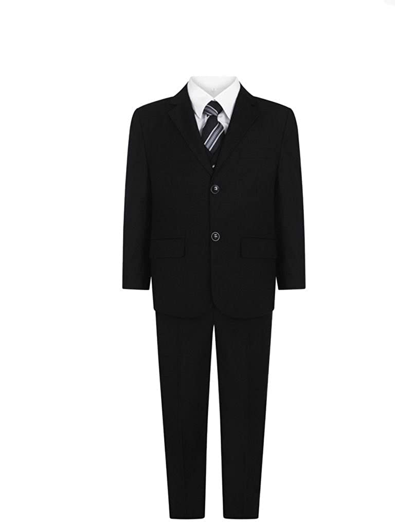 Boys Black Suit Boys Prom Suit Page Boy Suits Boys Funeral Suit 1-15 Years