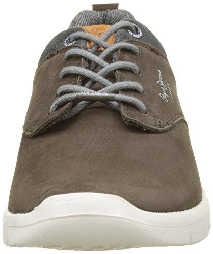 Pepe Jeans London Herren Jayden Nubuck Sneaker Braun (Conker)