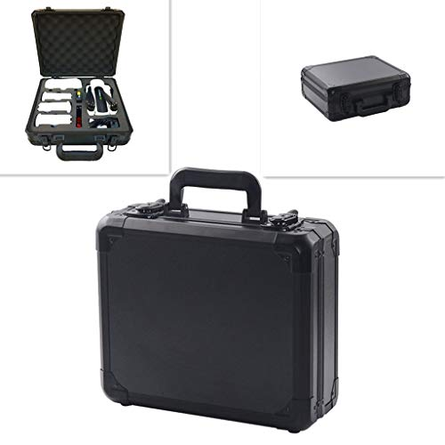 Aluminum Hardshell Carrying Case Waterproof Anti-Shock Travel Outdoor Suitcase Portable Handbag Protect Case for Hubsan Zino H117S RC Drone (Black)