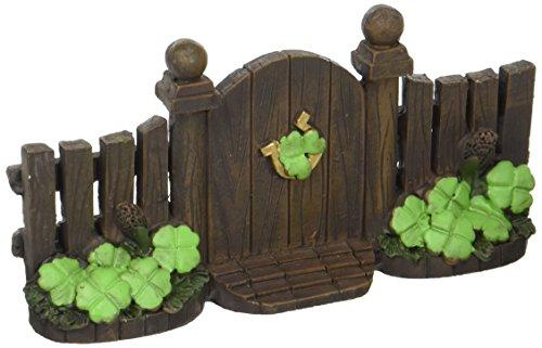 Darice St. Patrick's Day Miniature Figurines - Shamrock Gate - 6 x 3 (Day Statue)