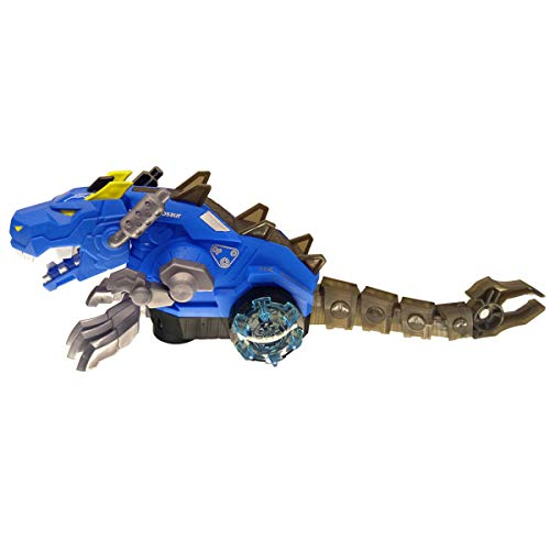 SQRTOY Spray Dinosaur Dragon Function Electric Toys with Music Electronic Robot Pet Gift Box for Children,Blue -