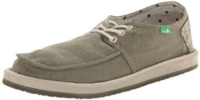 Sanuk Men's Drewby SWS Boat Shoe,Faded Olive,7 M US