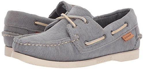 Sebago Women's Docksides Boat Shoe, Grey Corduroy, 7 B US