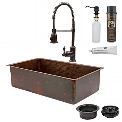 Amazon Com 33 X 19 Single Basin Kitchen Sink With Faucet Kitchen