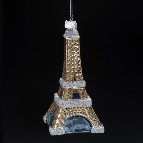 Kurt Adler 5-Inch Noble Gems Glass Eiffel Tower Ornament