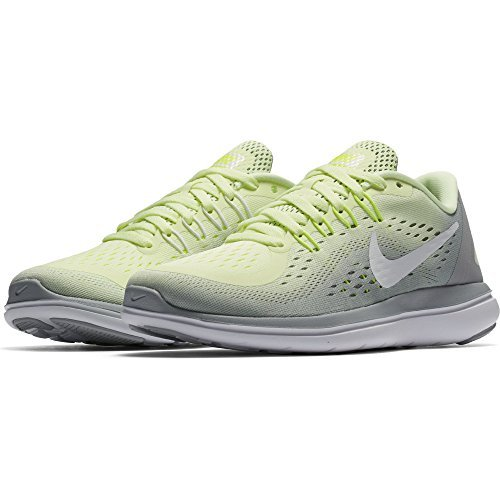 Nike Womens Flex 2017 Running Shoes Barely Volt/White-Wolf Grey - Cycling Nike Shoes