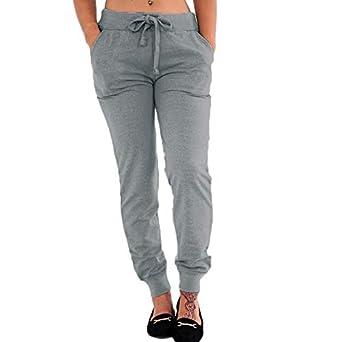 Timagebreze Pantalones de fitness elástico cinturón oto?o cuerda ...