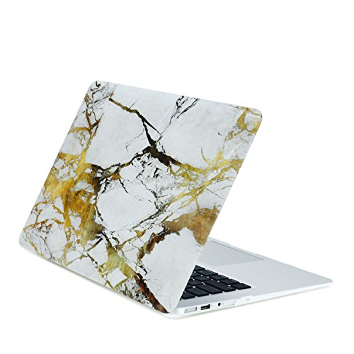 "TOP CASE - Air 13-Inch Marble Rubberized Hard Case for MacBook Air 13"" Model: A1369 and A1466 - Brown"