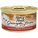 Gravy Lovers Beef Feast Wet Cat Food (3-oz can,case of 24) For Sale