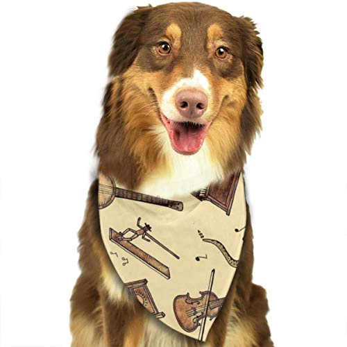 Music Theory Halloween Costumes - Pet Scarf Dog Bandana Bibs Triangle