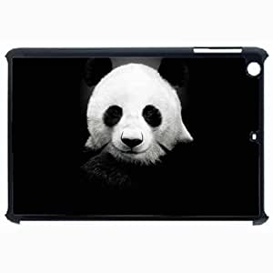 Customized Back Cover Case For iPad Air 5 Hardshell Case, Black Back Cover Design Panda Personalized Unique Case For iPad Air 5