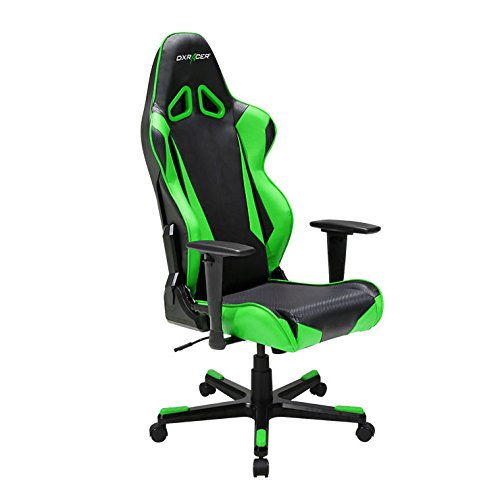 DXRacer Racing Series DOH/RB1/NE Newedge Edition Racing Bucket Seat Office Chair Gaming Chair Automotive Racing Seat Computer Chair eSports Chair Executive Chair Furniture (Black/Green