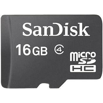 SanDisk 16 GB microSDHC Flash Memory Card SDSDQ-016G (Bulk Packaging) - Class 4