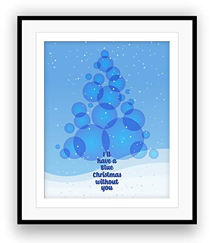 song lyrics art print blue christmas by elvis presley - Blue Christmas Lyrics