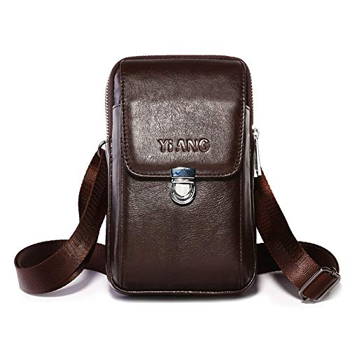 Slant Jtsyhmen Movil Billetera Mini Gran Bolsa 's black Capacidad Brown Buffalo De fXXqw6T