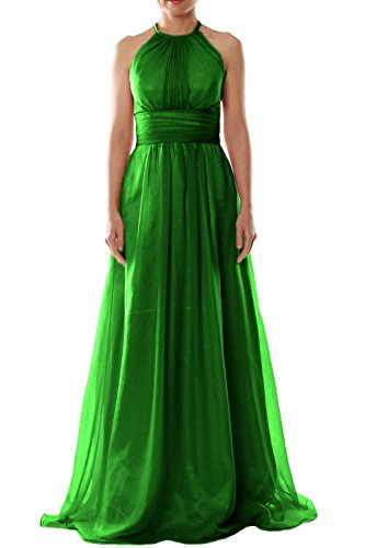Dunkelgrun Dress MACloth Evening Party Halter Long Women Chiffon Wedding Bridesmaid Gown w6X6vHgq