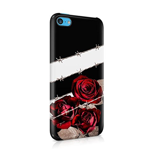 Wired Crimson Red Roses On Black Hard Plastic Phone Case For iPhone 5c (667 Hipster)
