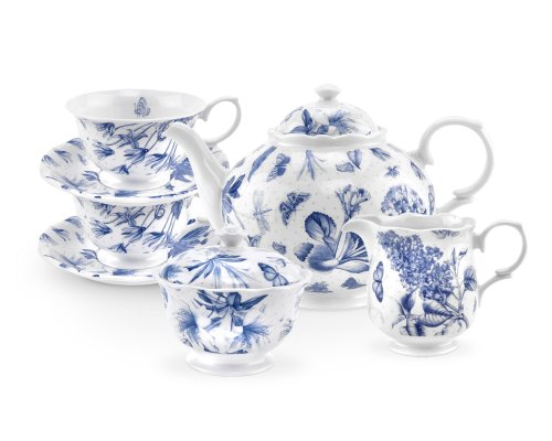 Botanic Blue Tea Set - Botanic Blue Tea Set