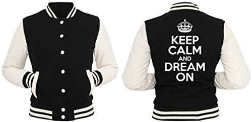 Keep Calm And Dream On College Vest Girls Black