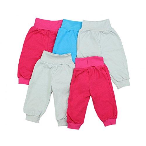 Baby Pumphose Basic Schlupfhose Jungen 100% Baumwolle Jersey Babyhose Mädchen Sommerhose im 5er Pack, Farbe: Mädchen, Größe: 86