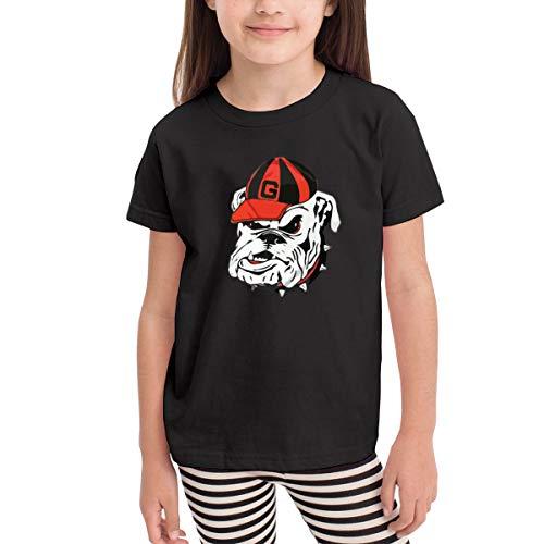 (Georgia Bulldogs Logo Short-Sleeves T-Shirt Girl's Boys Black)