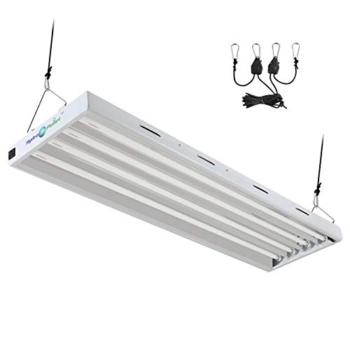 Hydroplanet™ T5 4ft 4lamp Fluorescent HO Bulbs Included for Indoor Horticulture Gardening T5 Grow Lights Fixtures (4 Lamp, 4ft)