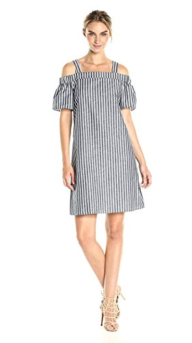 Cotton And Linen Striped Dress - 9