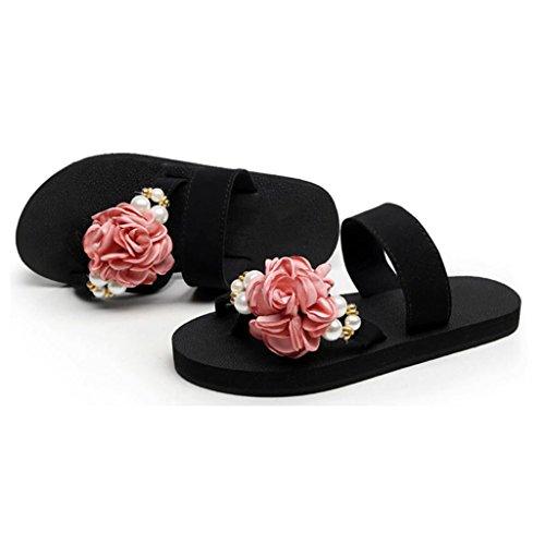 Zapatillas Mujeres Plano Zapatillas EU38 CN38 Sandalias Sandalias Pink Planas Playa 5 Color de Pink Chanclas Aire Sandalias al Chanclas Tamaño Verano de MuMa y UK5 Libre Tacón ZfwxUq8UI