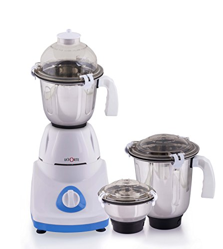 La Forte Ultima Mixer Grinder, with 3 High Grade SS Jar for Blending,Grinding & Mixing; comes with UK 3 PIN Plug; Customer may need a normal adapter or 3 Pin top to run in US Power Sockets Grinding Jar