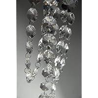 Cadena de 182,88 cm de lámpara de araña, con cristales brillantes transparentes