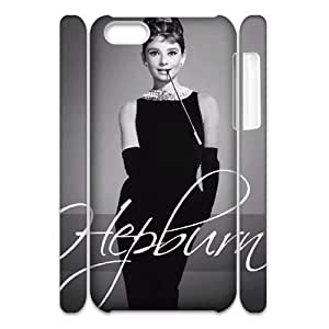 Audrey Hepburn Pattern Personalized 3D Case for Iphone 5C, 3D Customized Audrey Hepburn Pattern Case