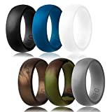 Silicone Wedding Ring,Silicone Wedding Band£¬6 Ring Pack for Men(for Love ,Outdoor and Sport) (white,black,light grey,copper,blue,camo, 12) (Misc.)