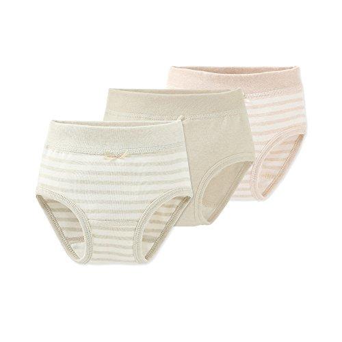 Pants 3 Pack Training (COBROO Baby Boys' Girls' Cotton Brief 3 Pack Training Potty Pants Girls 2-3 T)