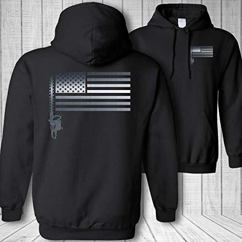 Landscaper American Flag landscaping Hedge Trimmer Sweatshirt Hoodie - M (Landscaping Hoodie)