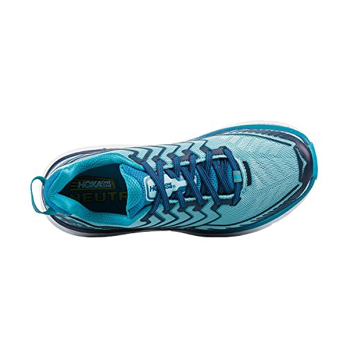 HOKA ONE ONE Womens Clifton 4 Running Shoe Blue Topaz/Imperial Blue Size 9 M US 7mkZuAd8V