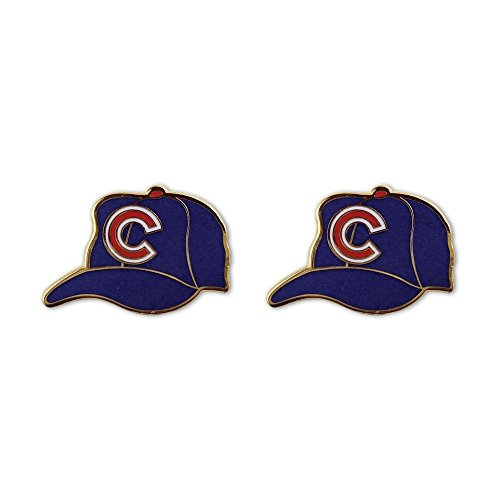 (Chicago Cubs Helmet Earrings by Wincraft Licensed by MLB Hypoallergenic)