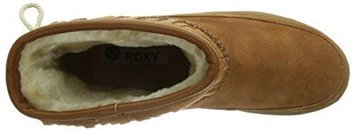 Roxy Venise Leather J Boot Blk - Botas de cuero mujer Marron