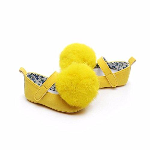 wuayi Mädchen Baby-Schuhe Gelb