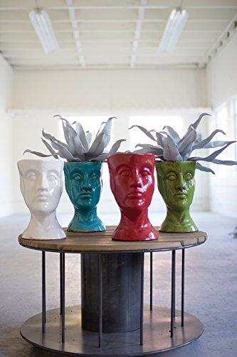 Ceramic Head - Turquoise, 11.5 x 8.5 in