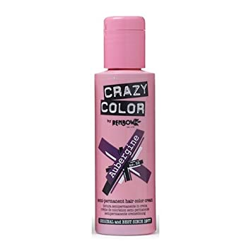 renbow crazy color semi permanent hair color cream aubergine no50 100ml - Crazy Color Aubergine