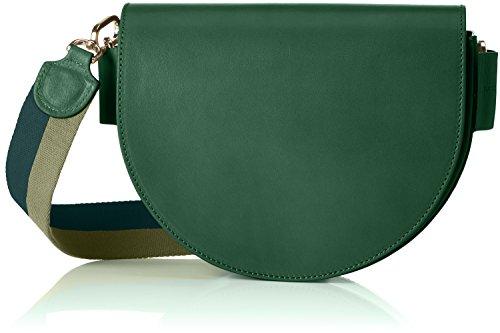 Liebeskind Berlin Women's Dbag Vachetta Leather Saddle Bag with Guitar Strap, Emerald Green - Vachetta Green