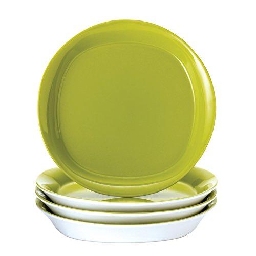(Rachael Ray Dinnerware Round and Square 4-Piece Stoneware Salad Plate Set,)
