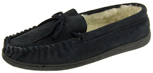 Estar Por Lodgemok Zapatillas Marino Casa Hombre De Footwear Forro Azul Genuina Lana Studio Gamuza vaqnHzw
