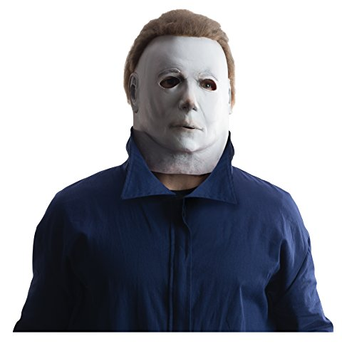 [Rubie's Costume Co Men's Deluxe Overhead Michael Myers Mask, Multi, One Size] (Michael Myers Costumes For Adults)