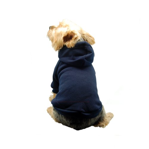 Anima Navy Blue Pullover Drawstring Hoodie Sweatshirt, Small by Anima