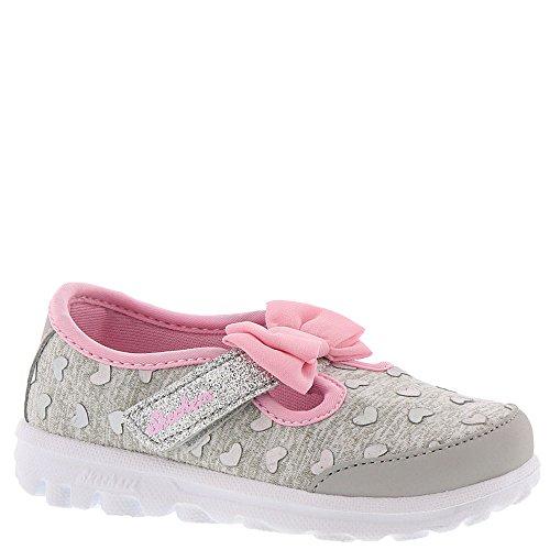 Skechers Go Walk-Bitty Hearts Girls' Infant-Toddler Slip On 5 M US Toddler Grey-Pink by Skechers