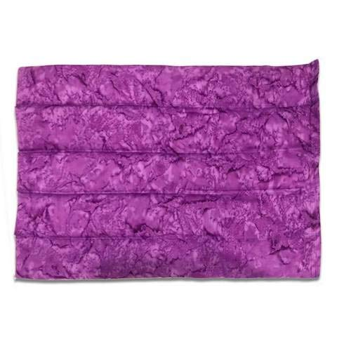Made In Santa Cruz Natural Rice Heating & Cooling Pad, Microwave Safe with Eco-Flex Design, Purple Batik Print, Lavender Scented